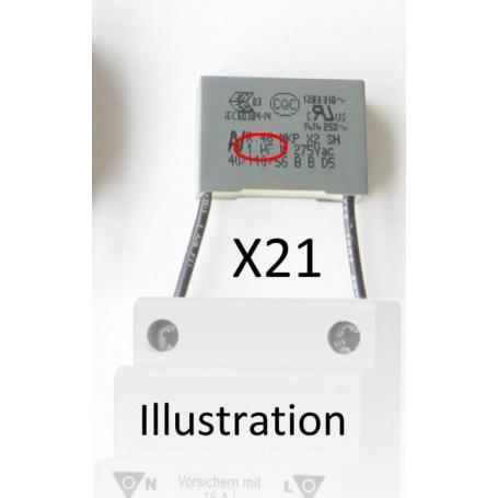 Filtre 1µF x 21 Gigahertz Solutions pour interrupteurs automatiques de champ