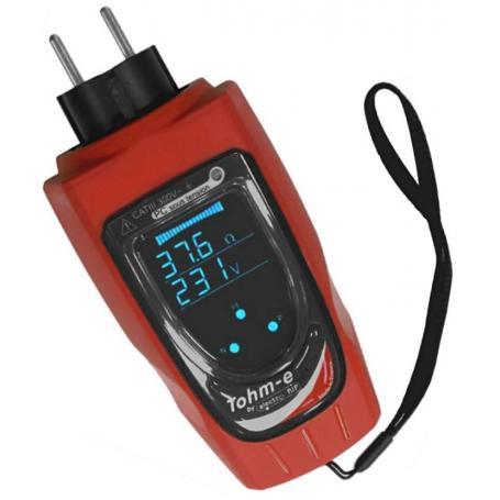 Contrôleur mesureur de boucle de terre et testeur de prise de courant Tohm-E