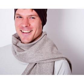 Echarpe anti-ondes en laine beige