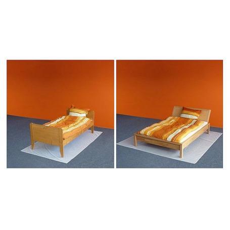 Dessous de lit tapis de protection hautes fréquences en tissu Swiss Shield Naturell