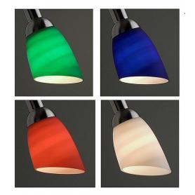 """Abat-jour en verre pour lampe de bureau Danell """"Acier brossé"""" et appliques Danell """"Acier brossé"""""""