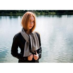 Echarpe anti-ondes en laine arabesques