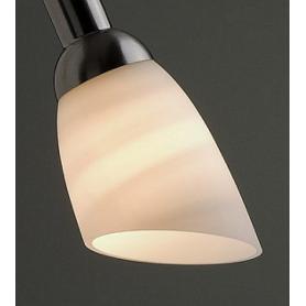 """Abat-jour en verre pour lampes de bureau et appliques """"Acier brossé"""" Danell"""