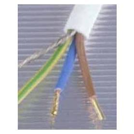 Câble blindé Danell blanc 3 x 0.75  mm² sans PVC, bobine de 50 mètres
