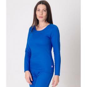 Tee-shirt anti-ondes Leblok à manches longues pour femme - bleu