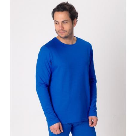 Tee-shirt anti-ondes Leblok à manches longues pour homme - bleu