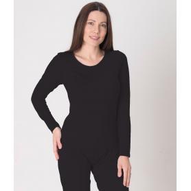 Tee-shirt anti-ondes Leblok à manches longues pour femme - noir