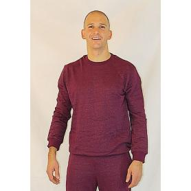 Sweat-shirt anti-ondes WaveSafe pour homme coton bio - bordeaux