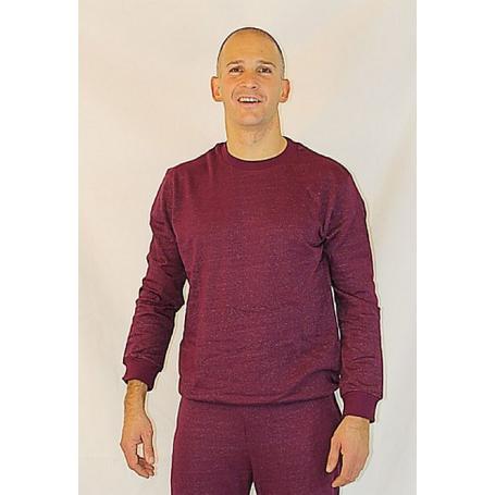 Sweat-shirt anti-ondes WaveSafe pour homme coton bio - bordeaux