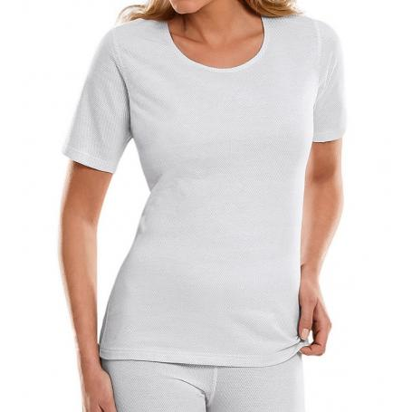 Tee-shirt anti-ondes Antiwave pour femme encolure ronde manches courtes - blanc