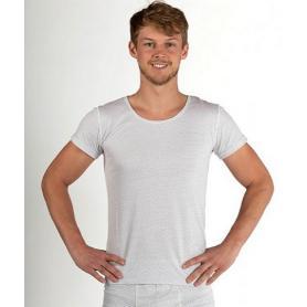Tee-shirt anti-ondes Wavesafe pour homme coton bio manches courtes - blanc