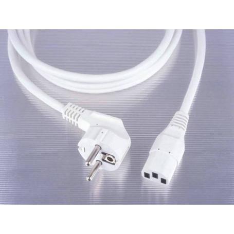 Câble de raccordement PC blindé blanc 3 mètres Danell