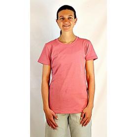 Tee-shirt anti-ondes Wavesafe pour femme coton bio col rond manches courtes - rose