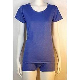 Tee-shirt anti-ondes Wavesafe pour femme coton bio encolure ronde manches courtes - bleu roi