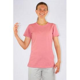 Tee-shirt anti-ondes Wavesafe pour femme coton bio ras du cou manches courtes - rose