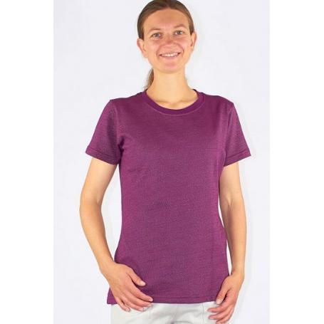Tee-shirt anti-ondes Wavesafe pour femme coton bio ras du cou manches courtes - bordeaux