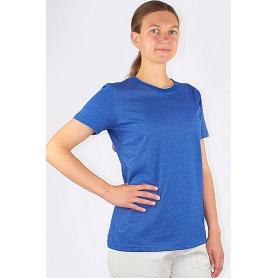 Tee-shirt anti-ondes Wavesafe pour femme coton bio ras du cou manches courtes | Bleu roi