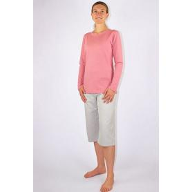 Tee-shirt anti-ondes Wavesafe pour femme coton bio manches longues | Rose