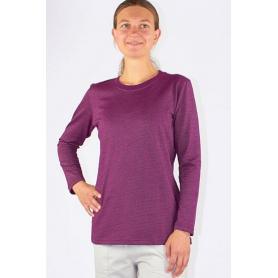 Tee-shirt anti-ondes Wavesafe pour femme coton bio manches longues | Bordeaux
