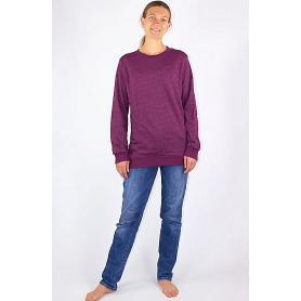 Sweat-shirt anti-ondes WaveSafe pour femme coton bio - bordeaux