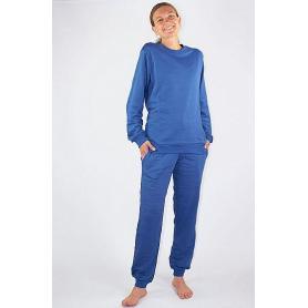 Tenue de loisirs anti-ondes WaveSafe pour femme coton bio - bleu roi