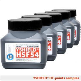Set d'échantillons peintures hautes fréquences YShield - 5 x 250 ml