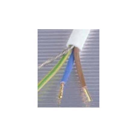 Câble blindé blanc 3 x 1.5 mm² sans PVC Danell