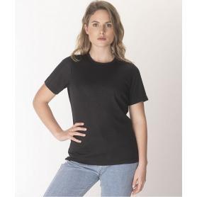 Tee-shirt anti-ondes Leblok à manches courtes pour femme - noir
