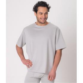Tee-shirt anti-ondes Leblok à manches courtes pour homme - gris