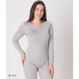 Tee-shirt anti-ondes Leblok à manches longues pour femme - gris