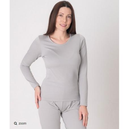 Tee-shirt anti-ondes Leblok à manches longues pour femme | Gris