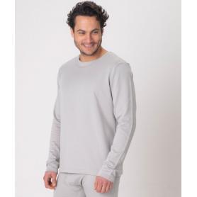 Tee-shirt anti-ondes Leblok à manches longues pour homme - gris