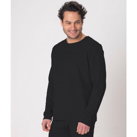 Tee-shirt anti-ondes Leblok à manches longues pour homme - noir