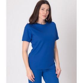 Tee-shirt anti-ondes Leblok à manches courtes pour femme - bleu