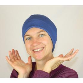 Bonnet anti-ondes Wavesafe en coton bio | Bleu