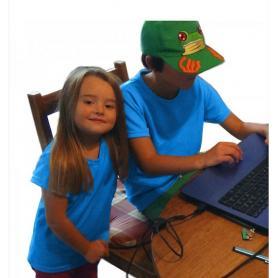 Tee-shirt anti-ondes Leblok mixte pour enfants - bleu