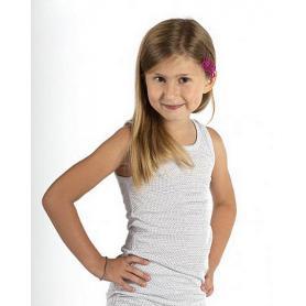 Débardeur anti-ondes Wavesafe pour fille en coton bio - blanc