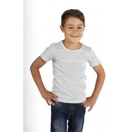 Tee-shirt anti-ondes Wavesafe pour garçon en coton bio manches courtes - blanc