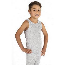 Débardeur anti-ondes Wavesafe pour garçon en coton bio - blanc