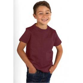 Tee-shirt anti-ondes Wavesafe mixte pour enfant en coton bio manches courtes - bordeaux