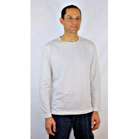 Tee-shirt anti-ondes Wavesafe pour homme manches longues - blanc