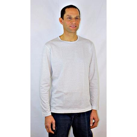 Tee-shirt anti-ondes Wavesafe pour homme manches longues - blanc