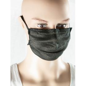 Masque anti-ondes nez-bouche Antiwave avec pince-nez, noir