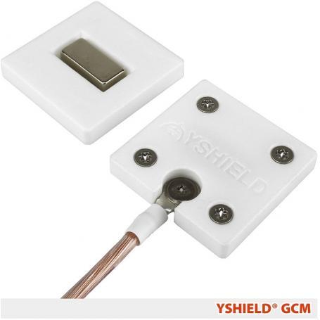 Plaque de mise à la terre magnétique GCM YShield pour tissus et toiles anti-ondes