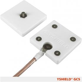 Plaque de mise à la terre à vis GCS YShield pour tissus et toiles anti-ondes