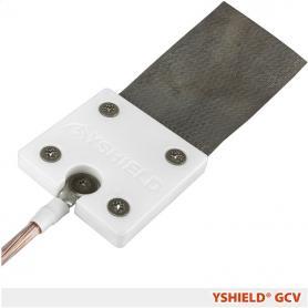 Plaque de mise à la terre GCV YShield avec velcro pour articles textiles anti-ondes cousus par YShield