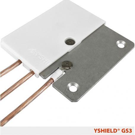 Plaque de mise à la terre GS3 YShield pour peintures, toiles et grillages anti-ondes