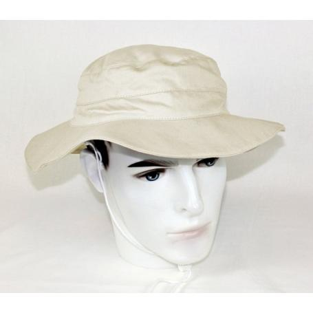 Chapeau anti-ondes coton bio Wavesafe doublé en tissu Extreme Safe - beige nature