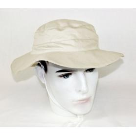 Chapeau anti-ondes coton bio Wavesafe doublé en tissu Swiss Shield Ultima - beige nature