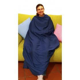 Couverture plaid anti-ondes Wavesafe flanelle coton bio doublé tissu Extreme Safe